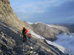 Auf der Traverse vor dem Gletscher