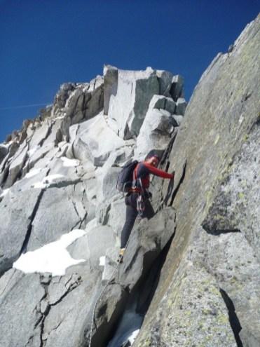 Schöne Kletterei