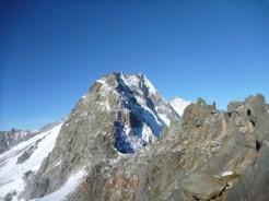 Blick vom Trattenjoch zum Gipfel