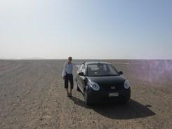 Wüstenstrasse in Richtung Dünen