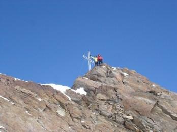 Joe u. Christine am Gipfelkreuz der Langt. Sp.