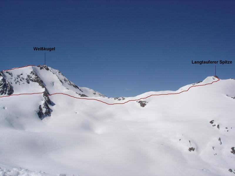 Langtauferer Sp. (3528 m) & Weikugel (3739 m)