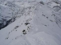 Der Grat zum Gipfel war nicht schwierig heute
