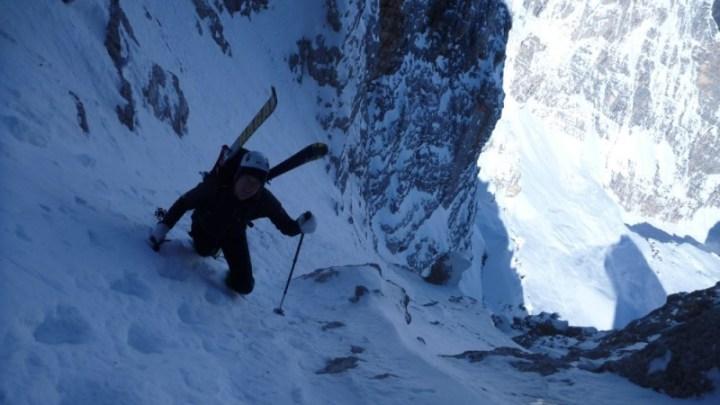 Innerkoflerrinne Monte Cristallo (mit Video)