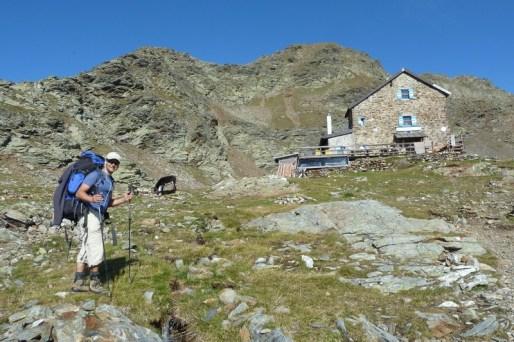 Flaggerschartenhütte, keine 5 min von der Kreuzung zur Jakobsspitze entfernt