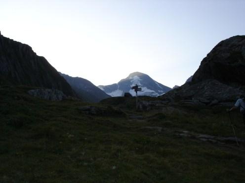 Rötspitze über dem Röttal am Morgen