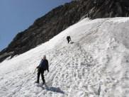 Albuin beim Abstieg über den Gletscher