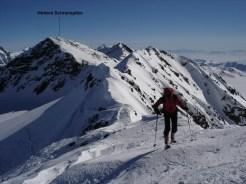 Joe beim Aufstieg auf die Östl. Veneziaspitze