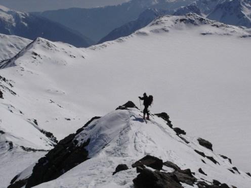 Joe mit Careser Gletscher im Hintergrund