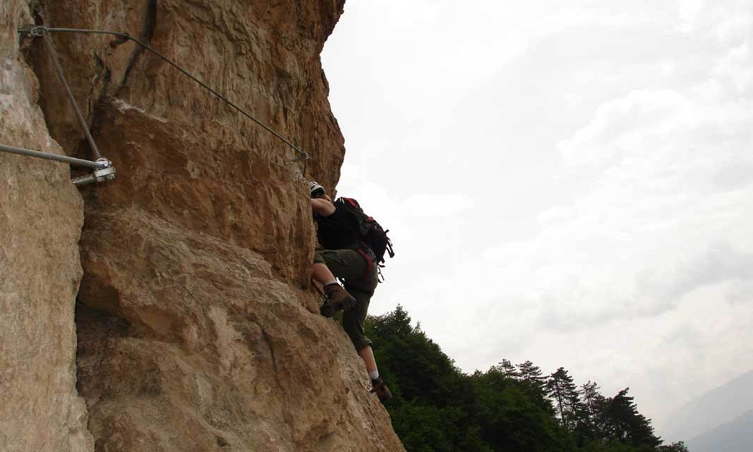 Klettersteig Monte Albano – Mori 550m