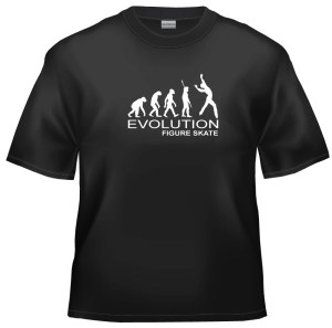 Evolution Figure skater t-shirt