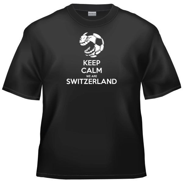 Swiss Football - Keep Calm We Are Switzerland t-shirt