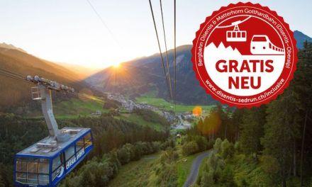 Gäste von Disentis und Sedrun fahren im Sommer gratis Zug und Bergbahn