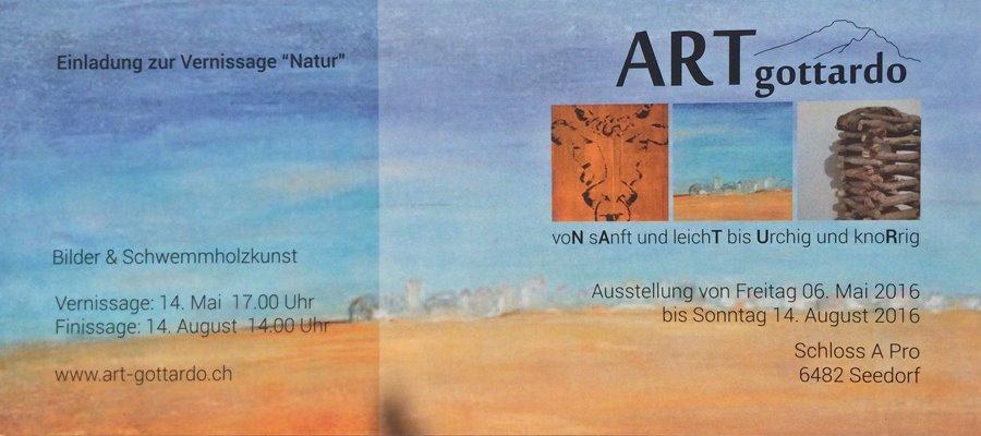 Im Schloss A Pro in Seedorf stellen drei Urschner Künstler ihre Werke vor