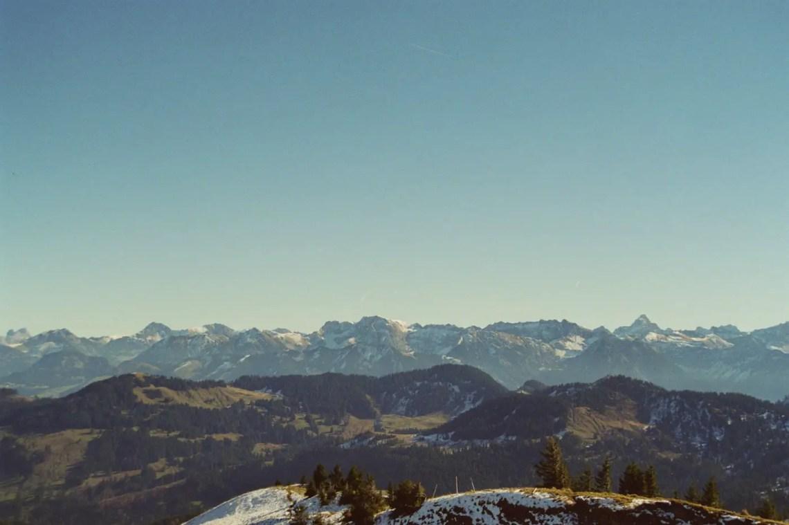 Bergpanorama am Gipfel