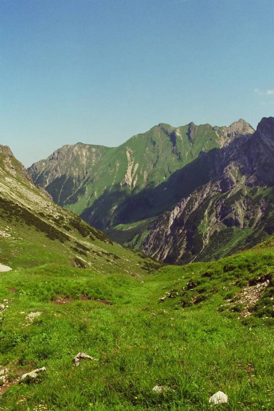 Abstieg zur Widderstein-Alpe