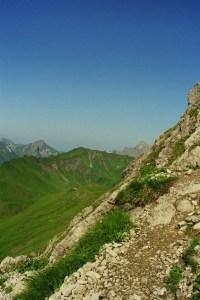 Einstieg zur Gipfelrinne