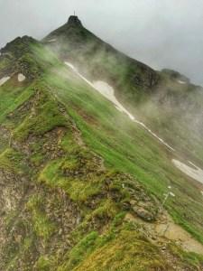 Die letzten Meter zum Gipfel des Kempterle