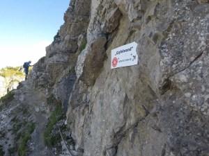 Gipfelwand am Ende des ersten Teils - Salewa Klettersteig