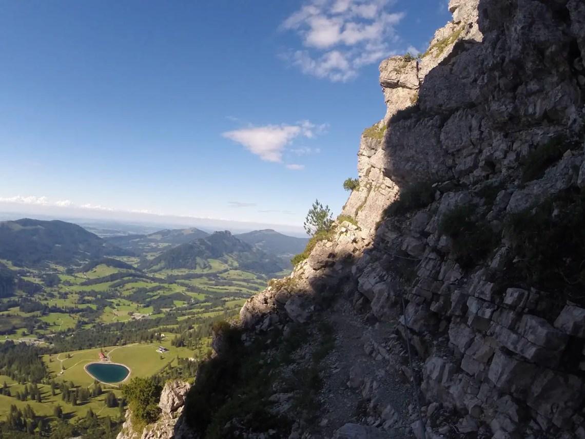 Salewa Klettersteig mit Wiedhag Alpe