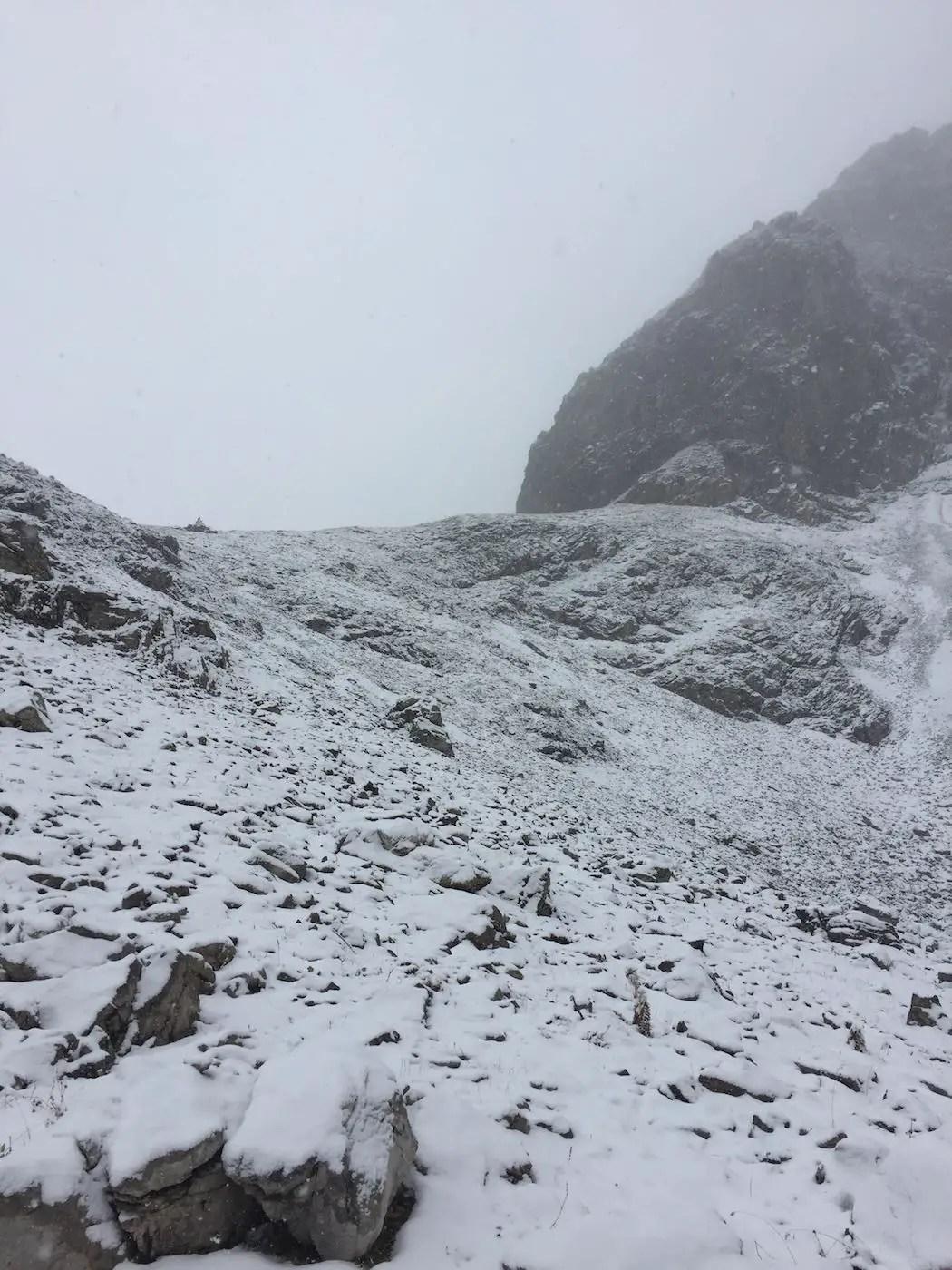Aufstieg zur Scharte am Geißhorn