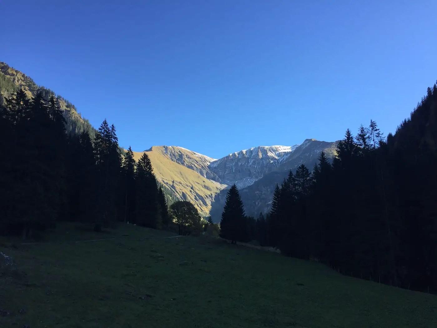 Blick von der Gerstruber Alpe zum Rauheck und Kreuzeck