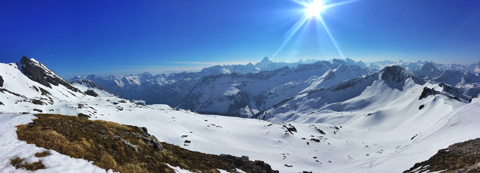Winterpanorama am Nebelhorn