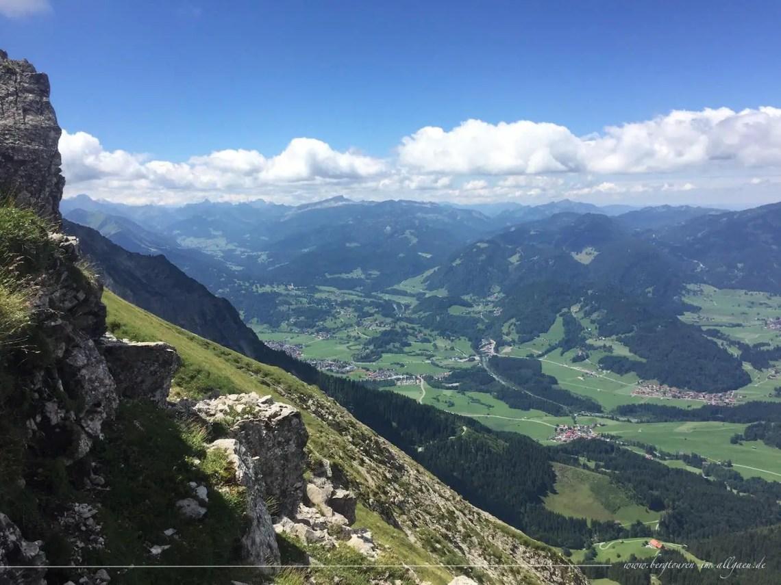 Die letzten Höhenmeter zum Entschenkopf Gipfel