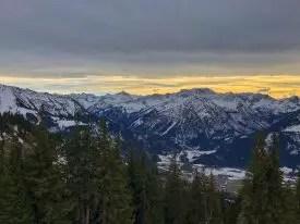 Ausblick nach Bad Oberdorf und den Allgäuer Hauptalpenkamm