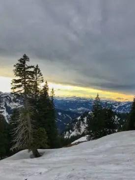 Goldener Horizont am Kleinen Steinpasssattel