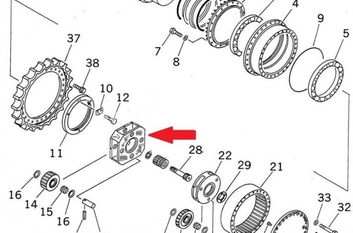 Продам: 208-27-61170 водило бортовой редуктор KOMATSU PC400