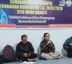 Ketua Yayasan Bhakti Bumi Persada, Drs Andi Mustaman MM dan Ketua I Dr Abdul Haris SE MSi