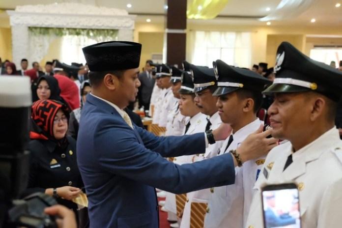 Pelantikan 166 pejabat Administrator dan Pengawas Pemkab Gowa.