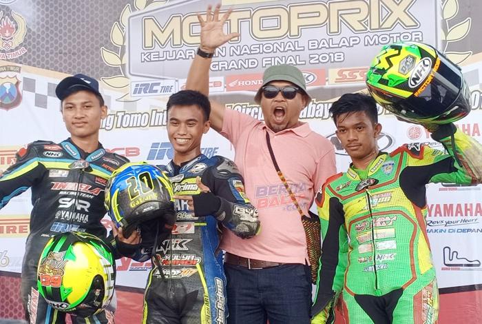 Raih Juara Nasional Seeded & Pemula, Erol Jangkrik : Helm NHK GP R-Tech Buat Rider Makin Pede