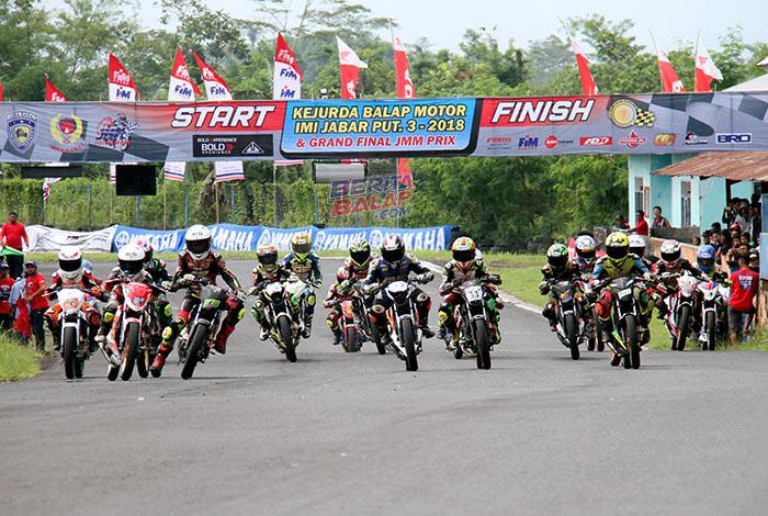 Kejurda Balap Motor IMI Jabar & Grand Final JMM Prix 2018 Tasikmalaya : Di Serbu 313 Starter, Gairah Muda MP5