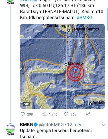 Gempa Ternate
