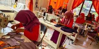 Bantu Pencegahan Covid-19, Santri Kebonharjo Produksi Masker Dibagikan Gratis