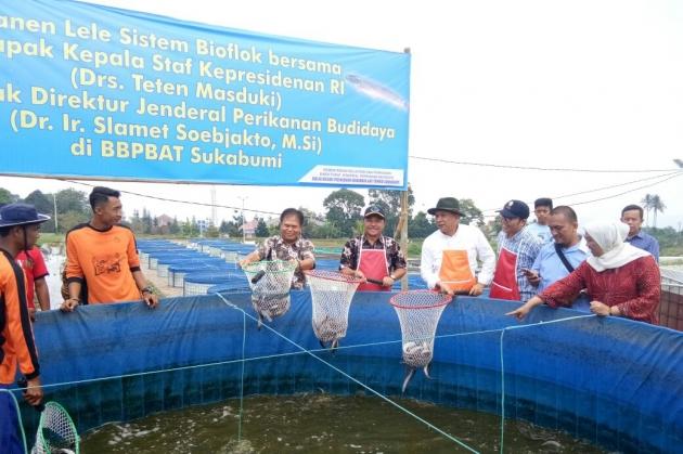 Direktur Jenderal Perikanan Budidaya Kementerian Kelautan dan Perikanan (KKP), Slamet Soebjakto