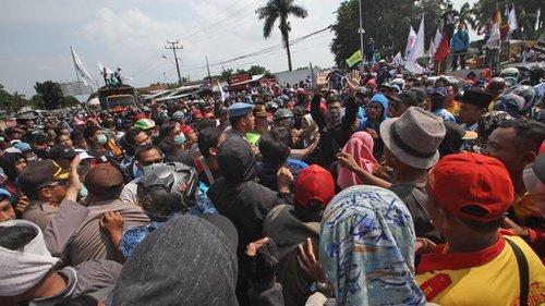 Demo Buruh di Banten