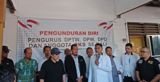 Jajaran pengurus DPW PKS Bali ramai-ramai mengundurkan diri dari keanggotaan partai.