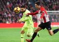 Messi ditempel ketat pemain Atletic Bilbao.