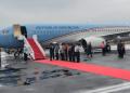 Presiden Jokowi tiba di Bandara Fatmawati Soekarno Bengkulu, Jumat (15/2/2019).