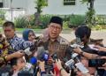 Menteri Agama (Menag) Lukman Hakim Saifuddin, saat berikan penjelasan kepada media.