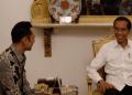 Presiden Jokowi saat terima kunjungan AHY.