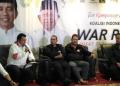 TKN Jokowi meyampaikan hasil real count War Room Pilpres 2019 di Kantor TKN, Gedung High End, Jakarta, Rabu (8/5/2019).