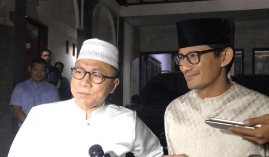 Zulkifli Hasan dan Sandiaga Uno.