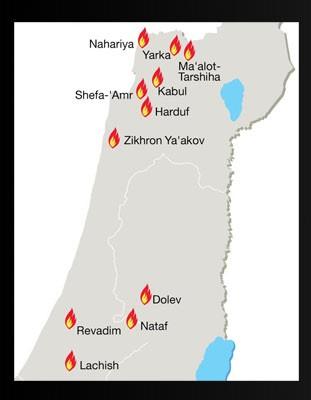 titik-kebakaran-israel