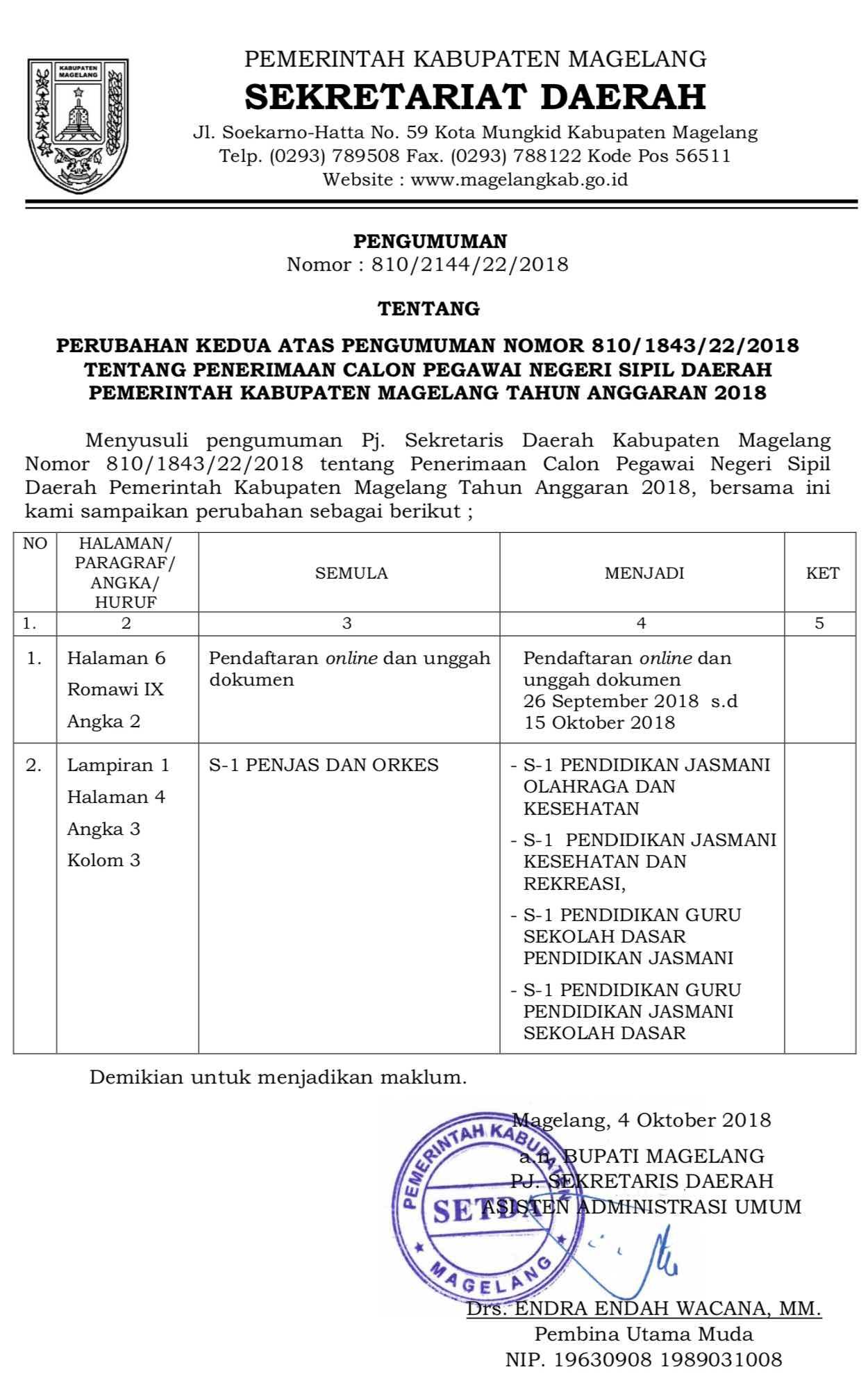 Cpns Kota Magelang : magelang, Kabupaten, Magelang
