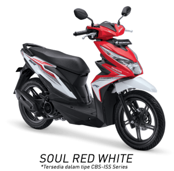 All New Honda BeAT eSP 2017 Warna Merah Putih tipe CBS-ISS