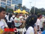 Suasana Para Peserta yang ikut Bekasi Run Victory